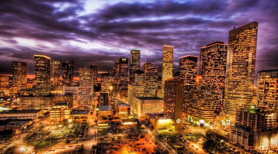 Houston at Sunset