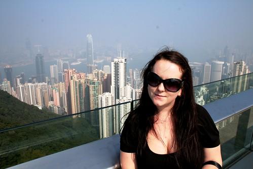 Sarah-Rose and the HK Skyline