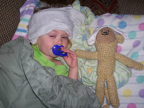 the monkey doesn't feel well,either