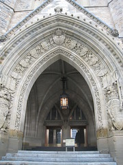 One of the entrances to the parliament