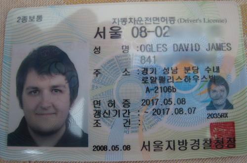 Korean Driver's License