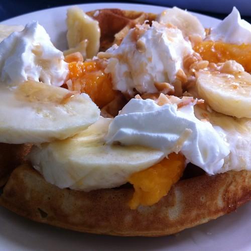 Kauai Waffle  @ java kai hanalei