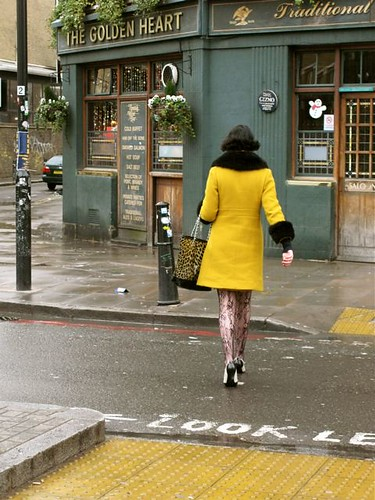 Mystery Yellow Woman at Spitalfield by Pit Van Meeffe