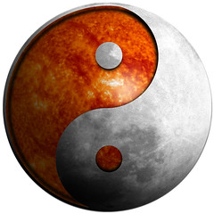 Yin Yang Moon Sun - Illustration