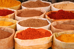 SPICES, MARKET IN MOROCCO