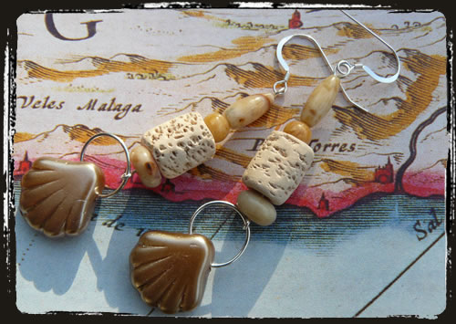 Orecchini conchiglia - Seashell earrings AMHDCBP
