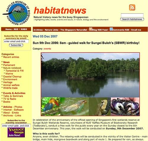 Habitatnews-SBAW2007