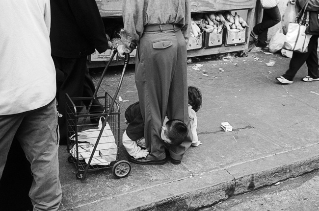 The Hard Cruel World We Live In - Alapan San Francisco street photography in Chinatown with my Leica M6
