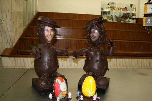 Jorge y Paloma en modo huevo