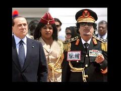 Muammar Gaddafi w gorgeous amazon guard, and ,...