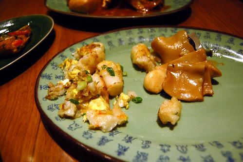 Chai Tow Kueh and Stir Fried Seafood