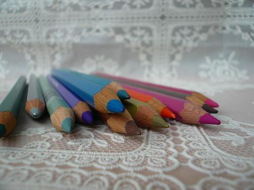 Atelier photo, mes crayons aquarellables, 23.01.08