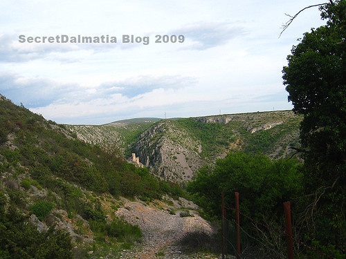 The fortress of Ključica - looking closer than it actually is...