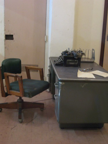 Warden's desk by you.