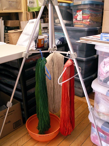 Tripod slash drying rack