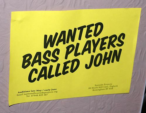 Bass gesucht