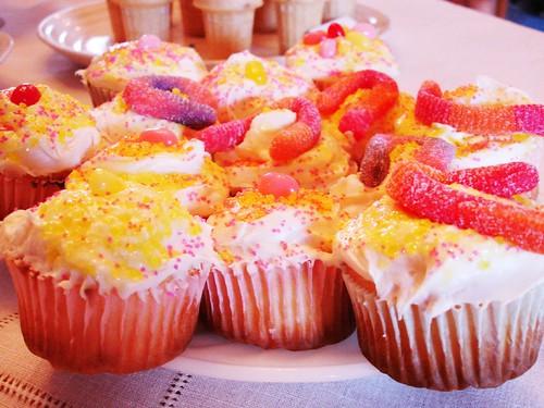 My lemonade cupcakes