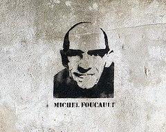Michel Foucault stencil [Lyon, France]