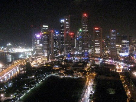 Obligatory Singapore skyline picture