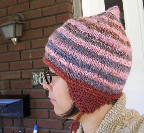raspberry jam hat - back