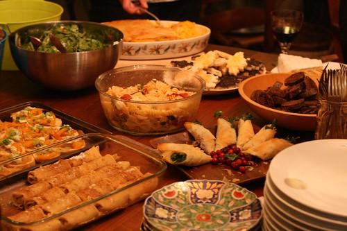Beautiful spread at the potluck!