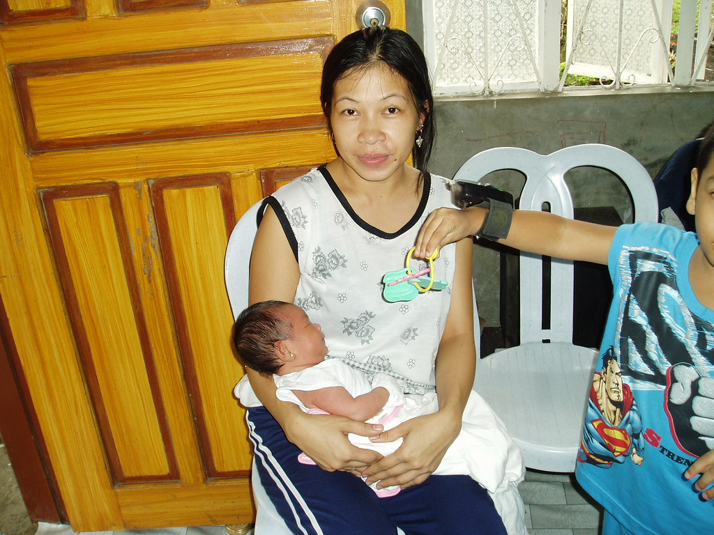 Ate Lanie and Baby Claire Anne