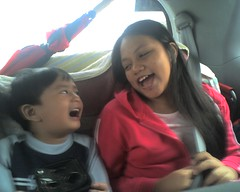My Niece Kath and little Jed. On our way to Subic