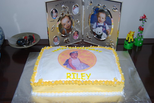 Riley's 1st Birthday Cake