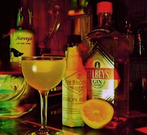 Madagascar Gin Sour low light - photo by Heather 'Tikimama' Gregg
