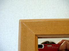 ナチュラルカラーの姿見が我が家へ ナチュラル木枠のアップ