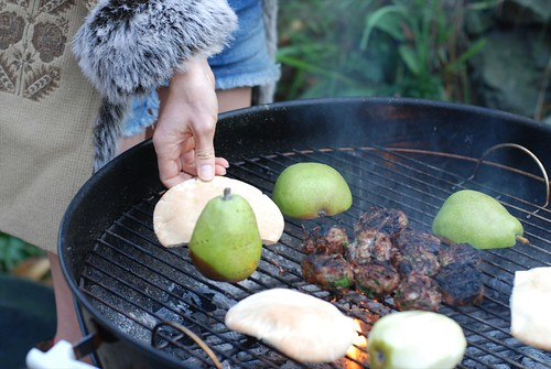 Lamb, Pear on the grill