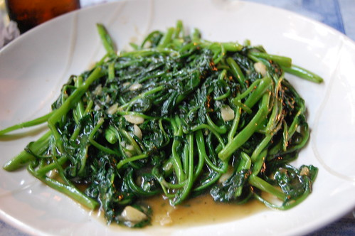 Stir Fried Morning Glory in Bean Sauce