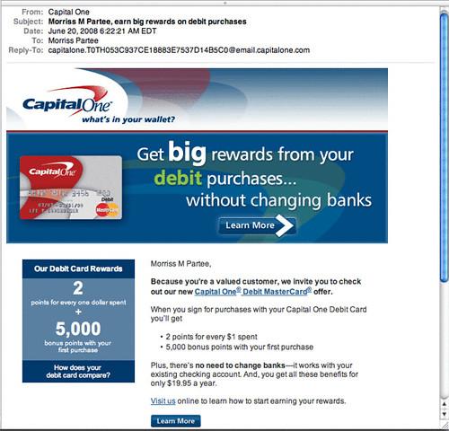CapitalOne Decoupled card lives
