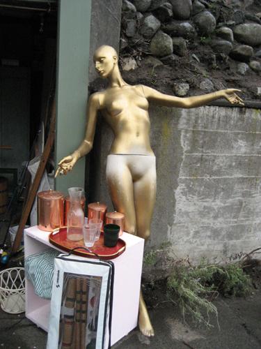 Mannequin at garage sale