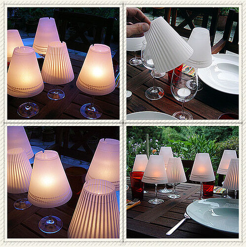 Wine Glass Candle Lamp
