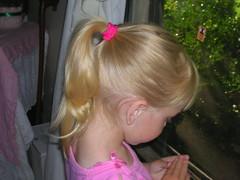 Delanie praying