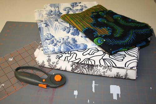 napkin fabric: Sixth day of Christmas