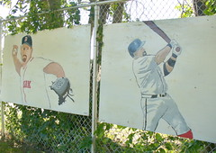 Painted Red Sox players