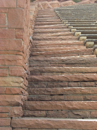 Stairs at Red Rocks Amphitheater