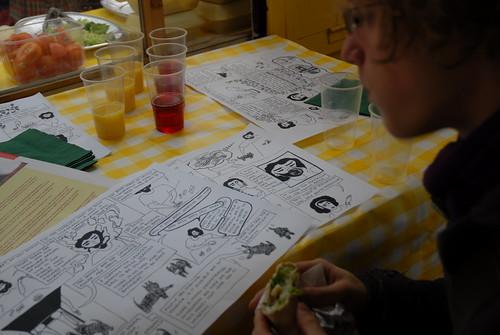 Comic strip table mat