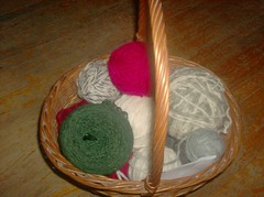 Basket of Lopi Yarn