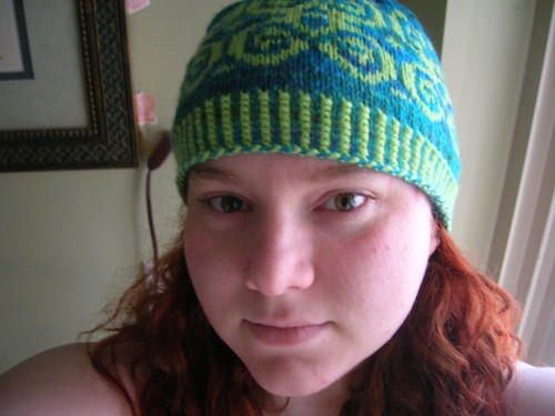 The good thing about having a lot of hand-knit hats...