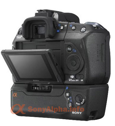Sony Alpha-LV (Live View) LCD low angle