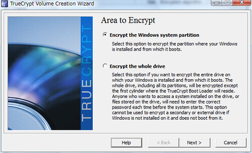 TrueCrypt Whole Drive Encryption