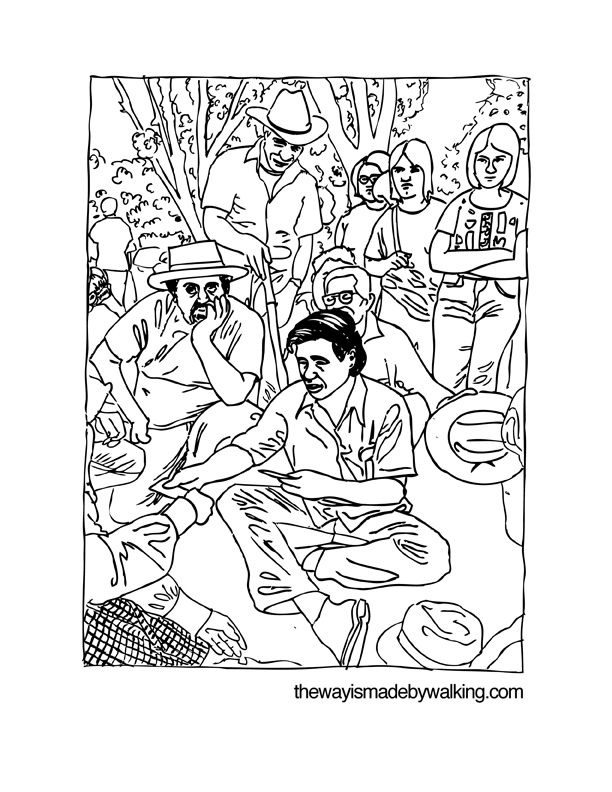 The way is made by walking cesar chavez maya talk for Cesar chavez coloring page