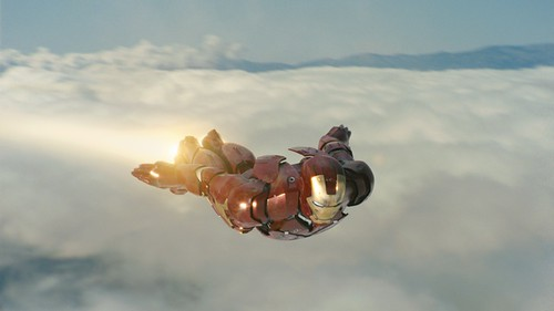 iron man flies
