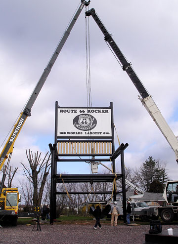 Awesome Worlds Largest Rocking Chair Set Up In Missouri Route 66 News Alphanode Cool Chair Designs And Ideas Alphanodeonline