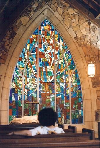 Chapel window at Calloway Gardens