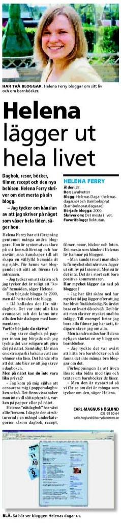 Intervjuad i Härryda-Posten