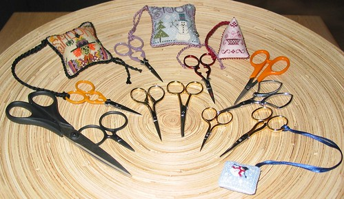 My scissor collection as of October 20th 2007